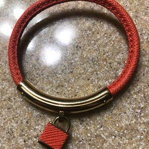 Michael Kors Leather Lock Bracelet